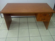Cherry desk with 2drawer fitted pedestal