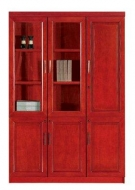 S015 wall unit with two glass doors and one wooden door  2000hx1350w